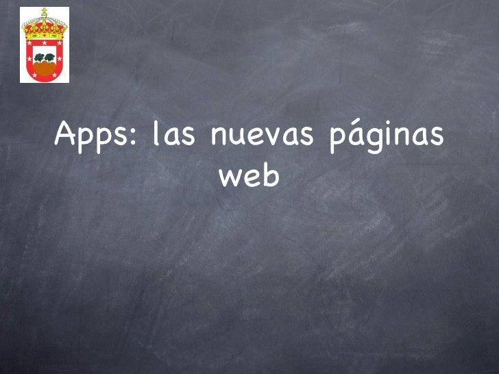 Apps: las nuevas páginas          web