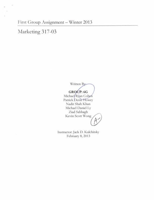 Marketing assignment1
