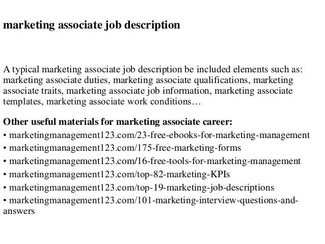 Marketing Job Description. Marketing Executive Cv Sample, Job ...