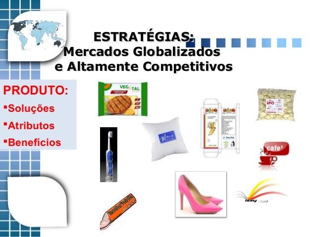 ESTRATÉGIAS:ESTRATÉGIAS: Mercados GlobalizadosMercados Globalizados e Altamente Competitivose Altamente Competitivos PRODU...