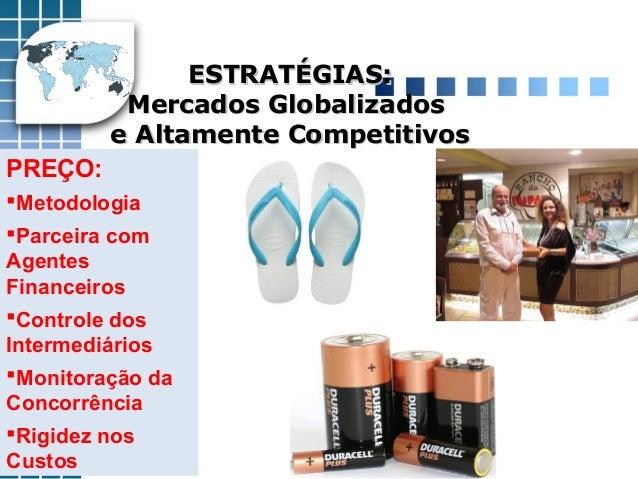 ESTRATÉGIAS:ESTRATÉGIAS: Mercados GlobalizadosMercados Globalizados e Altamente Competitivose Altamente Competitivos PREÇO...