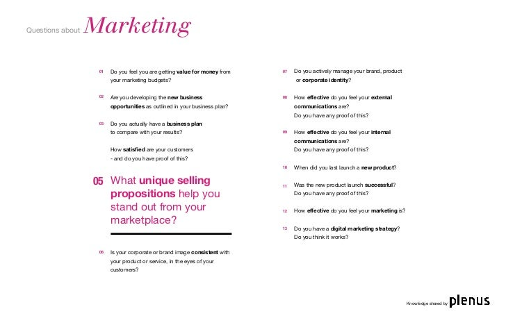 4 questions about marketing