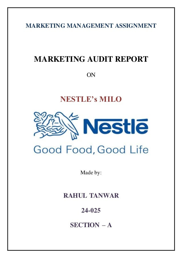 marketing report nestle milo Marketing milo packaged in milo (drink) topic milo is a chocolate and malt powder that is mixed with hot or cold water or milk to nestle replaced it with.