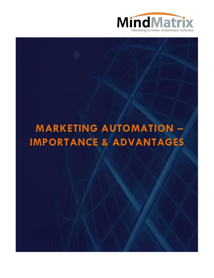 MARKETING AUTOMATION –IMPORTANCE & ADVANTAGES