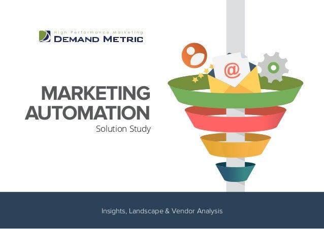 MARKETING AUTOMATION Solution Study Insights, Landscape & Vendor Analysis