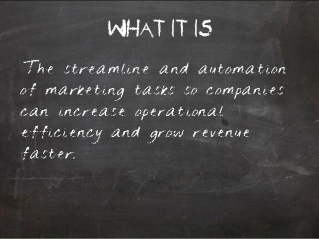 Marketing Automation 101 Slide 2