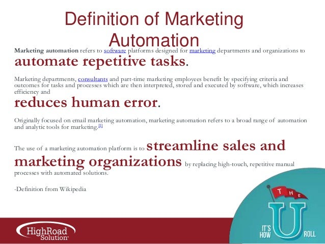 Marketing Automation 101