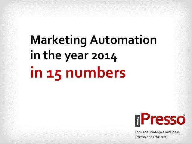 Marketing Automation in the year 2014 in 15 numbers Focus on strategies and ideas, iPresso does the rest.