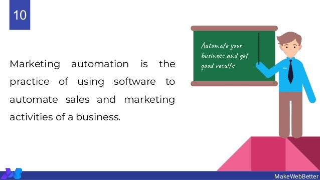 Marketing automation is the practice of using software to automate sales and marketing activities of a business. MakeWebBe...
