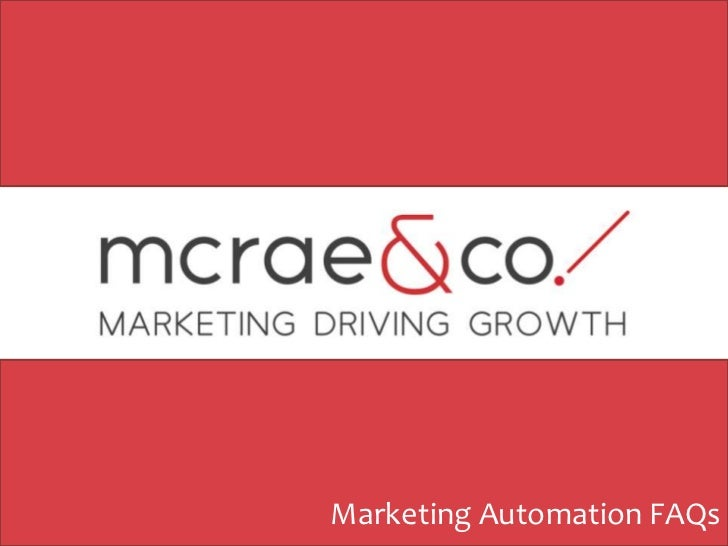 Marketing Automation FAQs