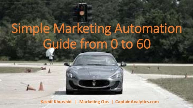 Simple Marketing Automation Guide from 0 to 60 Kashif Khurshid | Marketing Ops | CaptainAnalytics.com