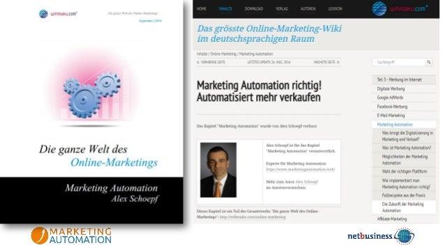 Kern der Marketing AutomationKern der Marketing Automation Smart Data Analytik Smarte Kommu- nikation CRM Quelle: www.mark...