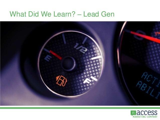 What Did We Learn? – Lead Gen