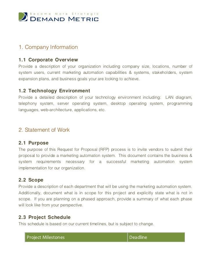 Marketing Automation System RFP Slide 3