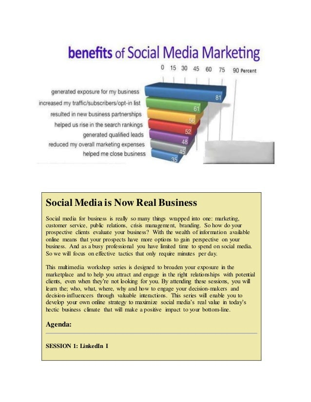 Social Media is Now Real Business Social media for business is really so many things wrapped into one: marketing, customer...
