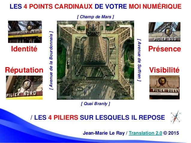LES 4 POINTS CARDINAUX DE VOTRE MOI NUMÉRIQUE Jean-Marie Le Ray / Translation 2.0 © 2015 / LES 4 PILIERS SUR LESQUELS IL R...