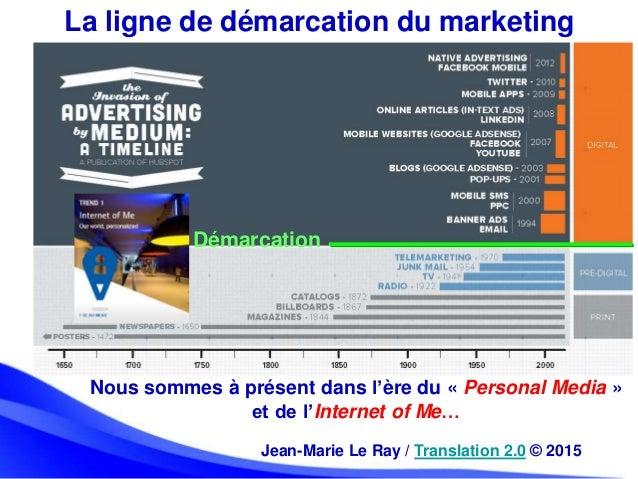 La ligne de démarcation du marketing Démarcation Nous sommes à présent dans l'ère du « Personal Media » et de l'Internet o...