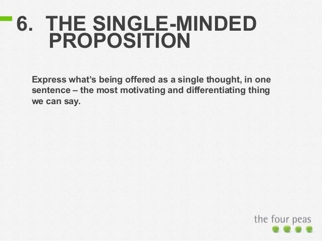 marketing single minded proposition