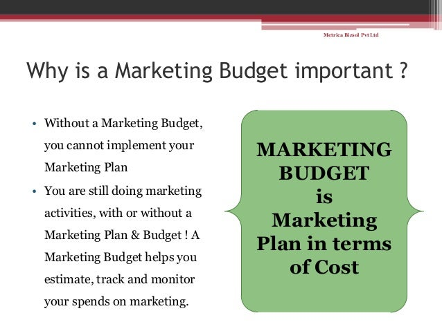 simple steps for making a marketing budget
