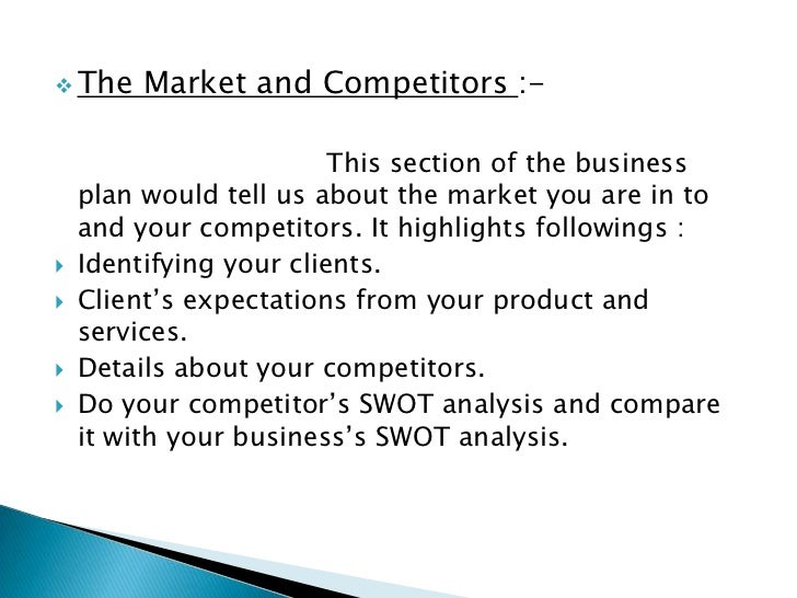 how to describe competition in business plan