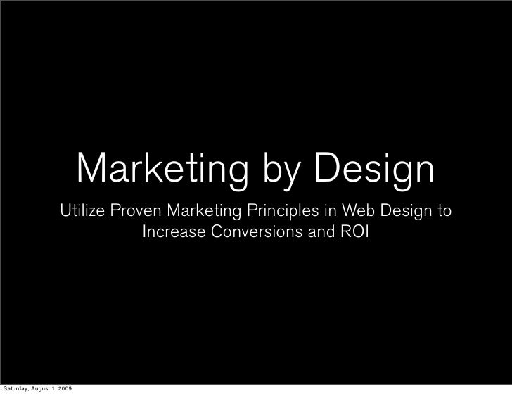 Marketing by Design                    Utilize Proven Marketing Principles in Web Design to                               ...