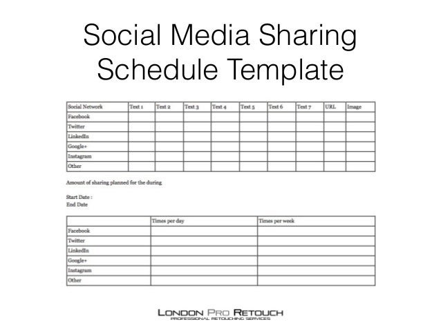 Marketing campaign planner for photographers for Campaign schedule template