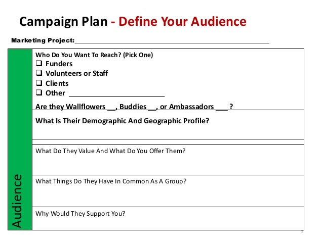 Non-profit Marketing campaign template