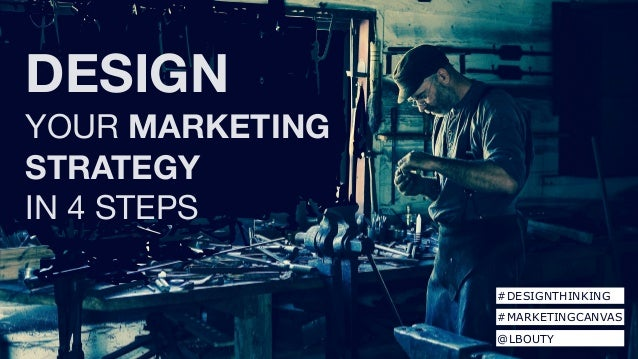 DESIGN YOUR MARKETING STRATEGY   IN 4 STEPS #DESIGNTHINKING #MARKETINGCANVAS @LBOUTY