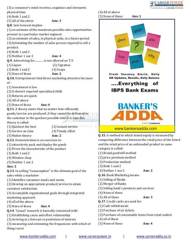 Marketing Aptitude & Study Notes for Bank Exams