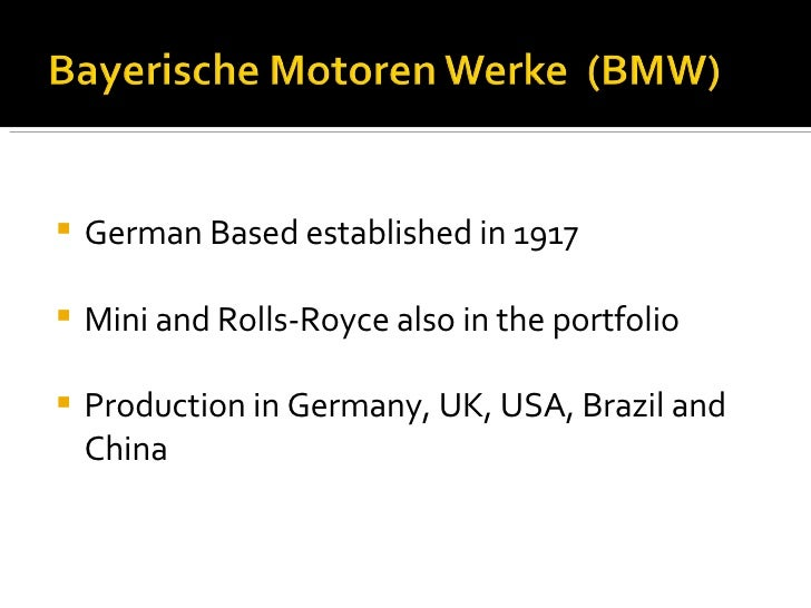 Marketing - BMW case study, Case Study