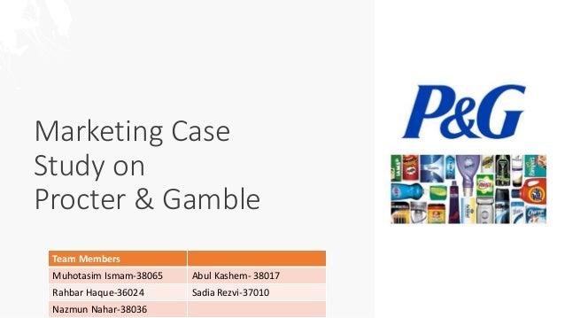 Marketing Case Study On Procter Gamble P G