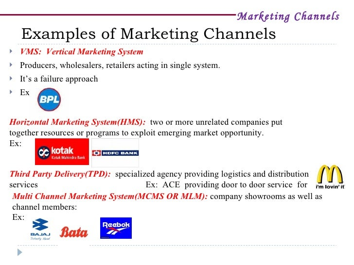 a study of marketing and marketing chanels When creating a marketing strategy, your distribution channels should be one of your four core subjects of discussion along with product, price and promotion many of your other marketing decisions and efforts will be affected by.