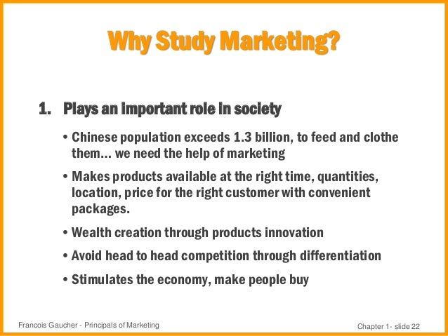 marketing chapter 1 On jan 1, 2012, mark s glynn (and others) published the chapter: chapter 1 introduction to business-to-business marketing management: strategies, cases, and solutions in a book.