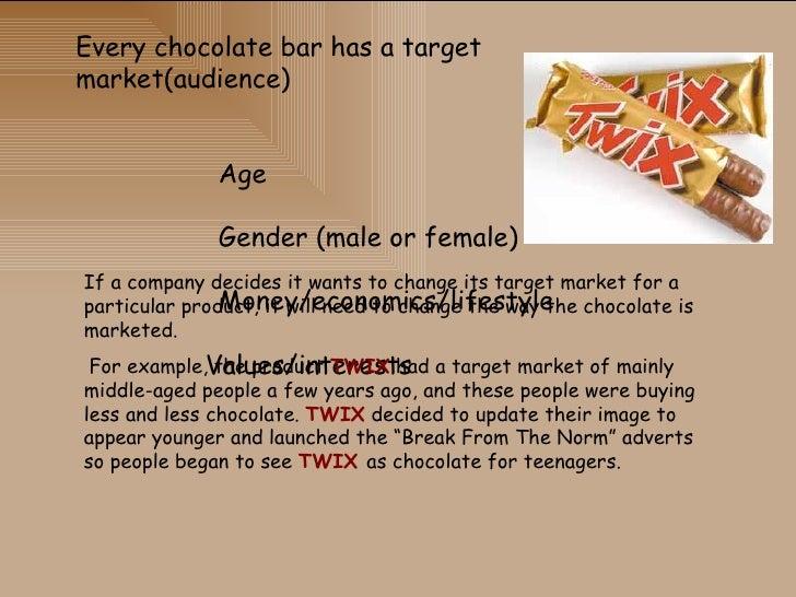 target market cadbury crunchie chocolate Cadbury's best tasting chocolate constitutes the main ingredient  in rich 'old gold' dark chocolate - crunchie  m&ms target markets target market.