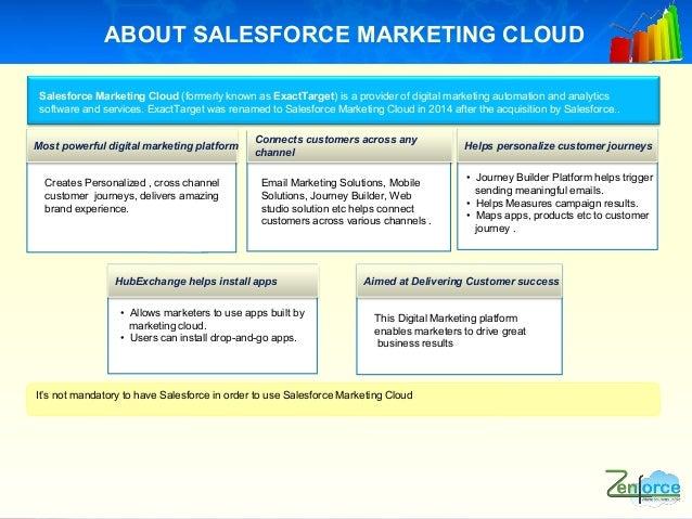Digital Marketing Automation with Salesforce Marketing Cloud Slide 3