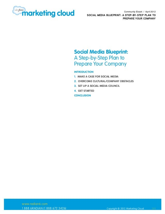 Social media blueprint a step by step plan to prepare your company 2 community ebook april 2012 social media blueprint malvernweather Image collections