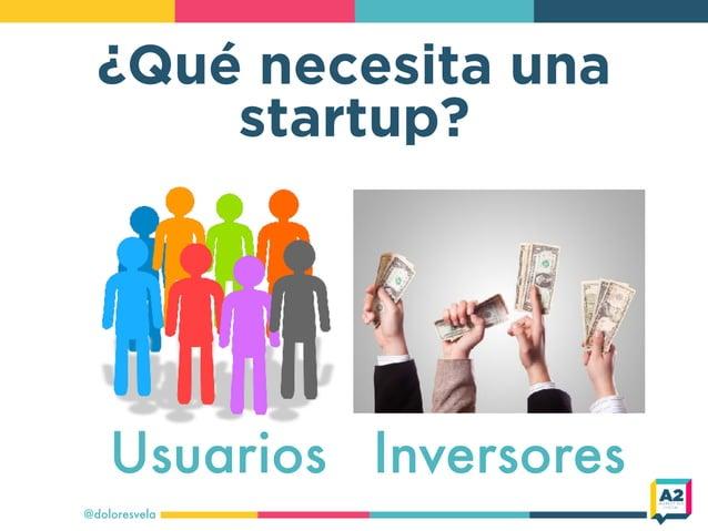 ¿Qué necesita una startup? @doloresvela Usuarios Inversores
