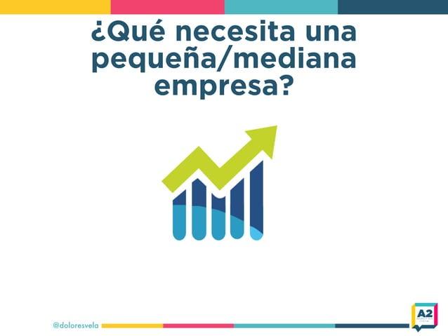 ¿Qué necesita una pequeña/mediana empresa? @doloresvela