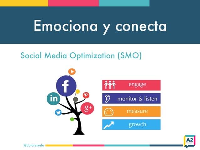 Emociona y conecta @doloresvela Social Media Optimization (SMO)