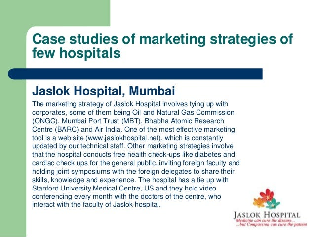 Marketing communication for hospital management