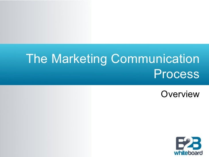 The Marketing Communication                   Process                    Overview