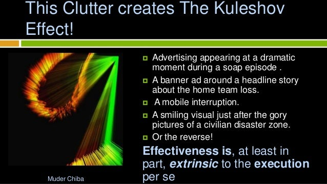 kuleshov effect The kuleshov effect is a film editing (montage) effect demonstrated by soviet  filmmaker lev kuleshov in the 1910s and 1920s it is a mental phenomenon by.