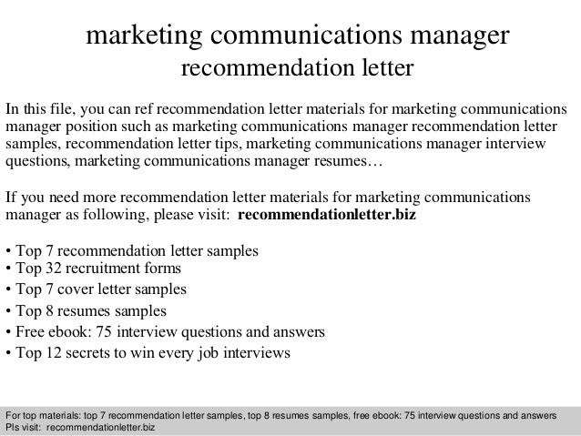 Marketing Assistant Reference Letter