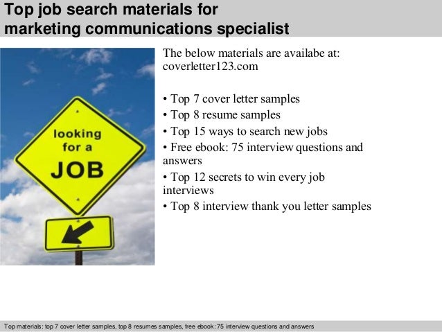 ... 5. Top Job Search Materials For Marketing Communications Specialist ...