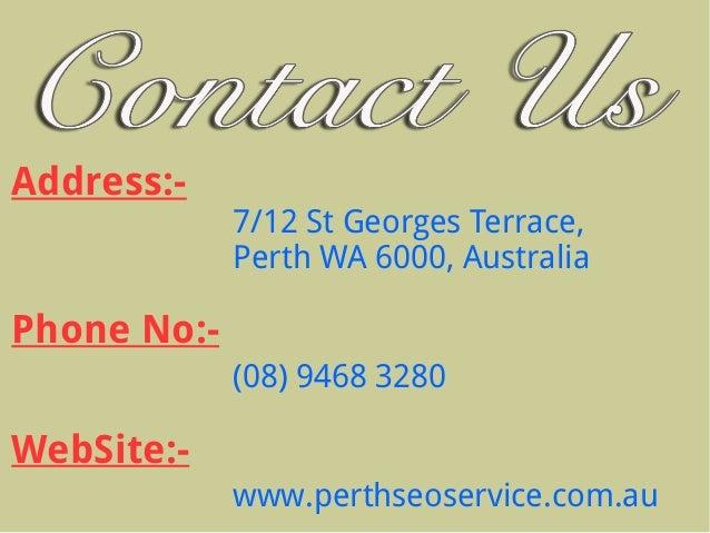 Best perth seo online marketing companies for 100 st georges terrace perth wa 6000 australia