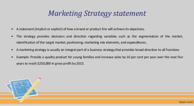 Strategic marketing option and a targeting strategy