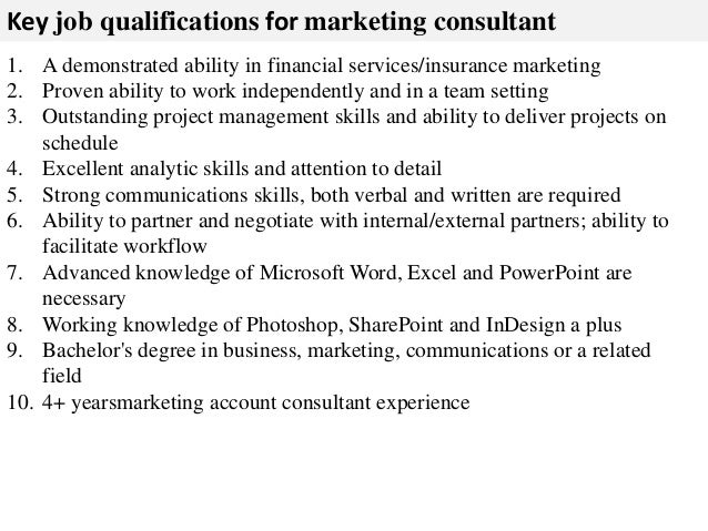 Marketing Consultant Job Description