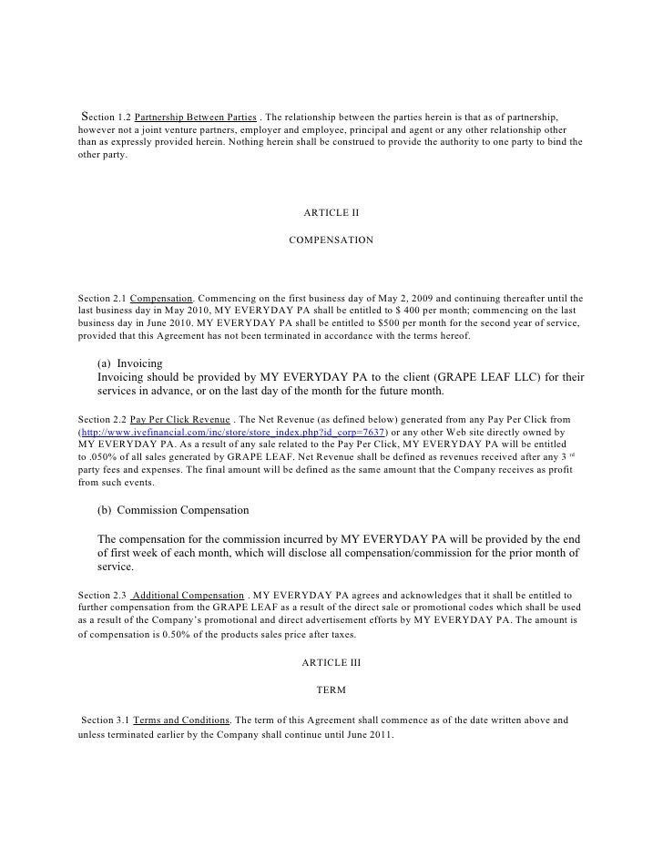 Marketing Consulting And Independent Contract Agreement – Consultant Contract Template