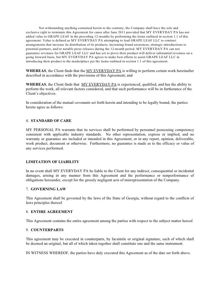 Professional Service Agreement Templates Contracts Service Agreement