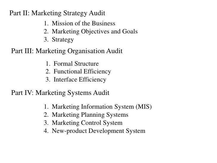 marketing organisation audit